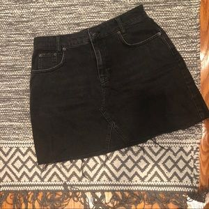 Black Distressed Denim Skirt -Urban Outfitters
